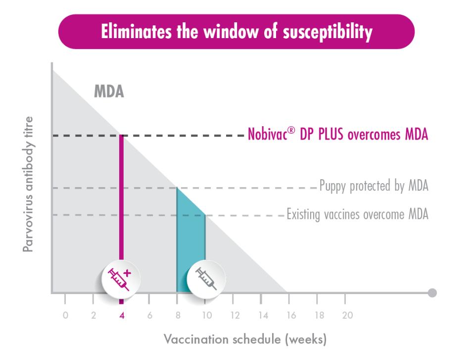 Nobivac DP PLUS MDA graph